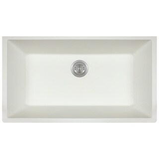 Polaris Sinks P848 White AstraGranite Single Bowl Kitchen Sink