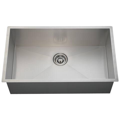 Polaris Sinks PS2233 90 Deg. Industrial Rectangular Stainless Steel Sink