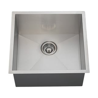 Polaris Sinks PS1232 90 Deg. Rectangular Stainless Steel Utility Sink