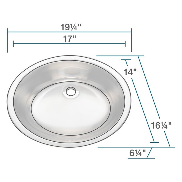 Polaris Sinks P7191 Stainless Steel Vanity Sink   Free Shipping Today    Overstock.com   16248000