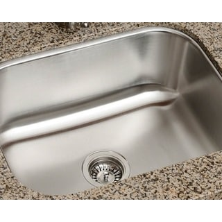 Polaris Sinks P8132-16 Single Bowl Stainless Steel Kitchen Sink