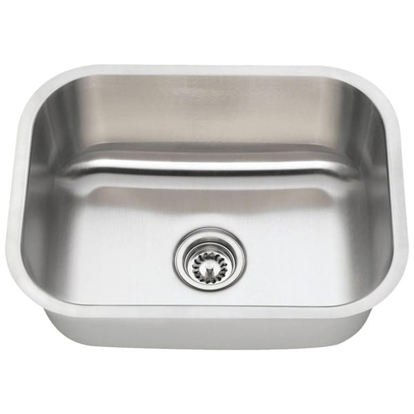 2318 Single Bowl Stainless Steel Kitchen Sink - Stainless Steel