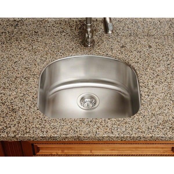 Polaris Sinks P812-18 Single Bowl Stainless Steel Sink