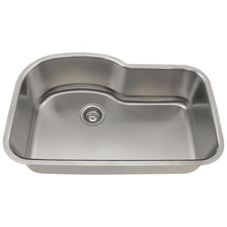 Polaris Sinks P643-18 Offset Single Bowl Stainless Steel Sink