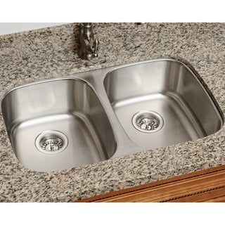 Link to Polaris Sinks P405-16 Equal Double Bowl Stainless Steel Kitchen Sink Similar Items in Heaters, Fans & AC