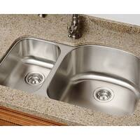 Polaris Sinks PR1213-16 Offset Double Bowl Stainless Steel Kitchen Sink