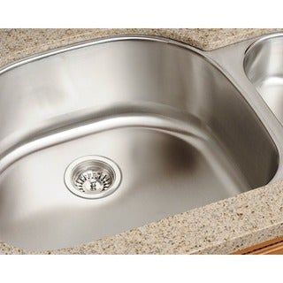 Polaris Sinks PL123-18 Offset Double Bowl Stainless Steel Kitchen Sink