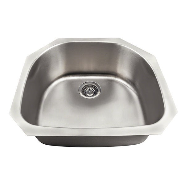 Polaris Sinks P2401US DBowl Stainless Steel Kitchen Sink