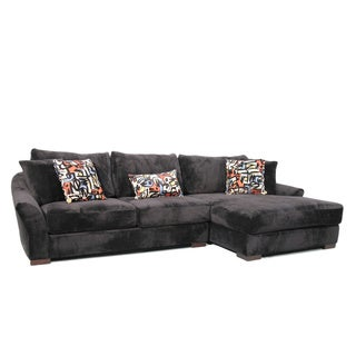 Fairmont Designs Made To Order Audrey 3-piece Ebony Sectional Sofa with Ottoman