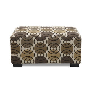Earth Toned Color Multi Circular Patterned Ottoman