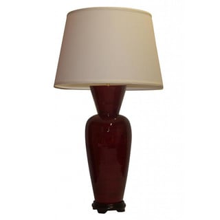 Crown Lighting Transitional 1-light Dark Red with Black Accent Table Lamp