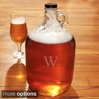 Personalized One-gallon Glass Growler