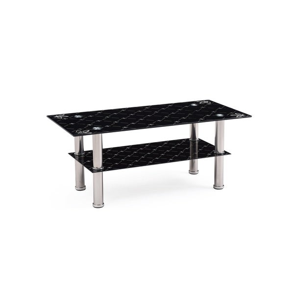 Superior Black Tempered Glass Top Coffee Table   Free Shipping Today   Overstock.com    16248074