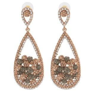NEXTE Jewelry Large Tri-tone Teardrop Dangle Earrings