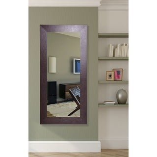 American Made Rayne Real Leather Floor Mirror