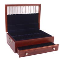 American Chest Solid Wood Bounty 180 piece Flatware Chest - Heritage Cherry