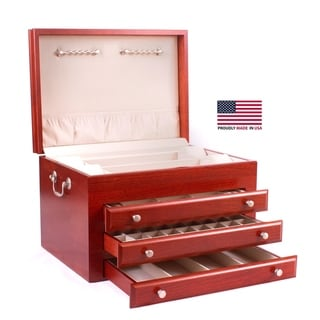 American Chest Majestic Solid Wood Jewelry Chest