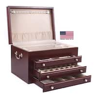 American Chest 'Majestic' 3-drawer Solid Cherry Jewelry Chest