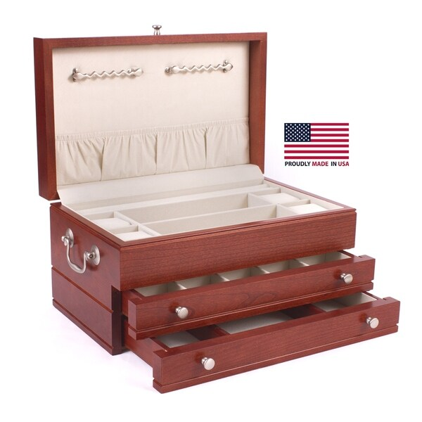 02de46a35 Shop American Chest First Lady Solid Wood Jewelry Box - Free ...