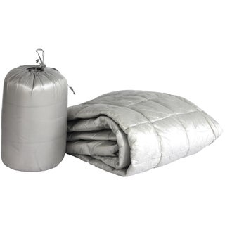 Ultralite Nylon Indoor/Outdoor Throw with Compact Travel Bag (Option: Grey)