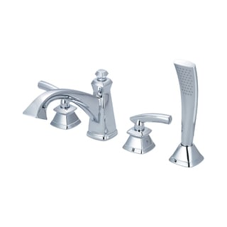Pioneer Gibraltar Series 4GB611 Two Handle Roman Tub Set with Handheld Showerhead