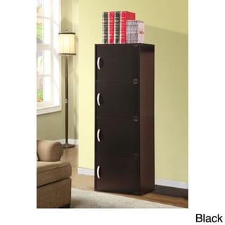 4-door Wood Storage Cabinet