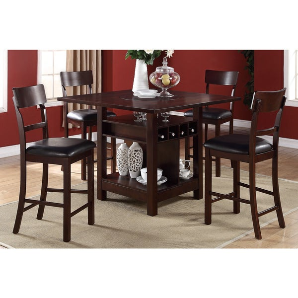 Arezzo 5 pieces Counter Height Dining Set with Wine  : Arezzo 5 pieces Counter Height Dining Set with Wine Storage and Shelving 980ac746 ddbe 47df 88c5 bfa5716ba38b600 from www.overstock.com size 600 x 600 jpeg 69kB