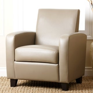 ABBYSON LIVING Grey Mercer Bonded Leather Club Chair