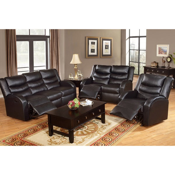 Rouen Bonded Leather Recliner Motion Living Room Set. Rouen Bonded Leather Recliner Motion Living Room Set   Free