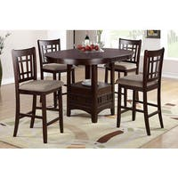 Pesaro 5 pieces Counter Height Oval Table with Counter Height Chairs
