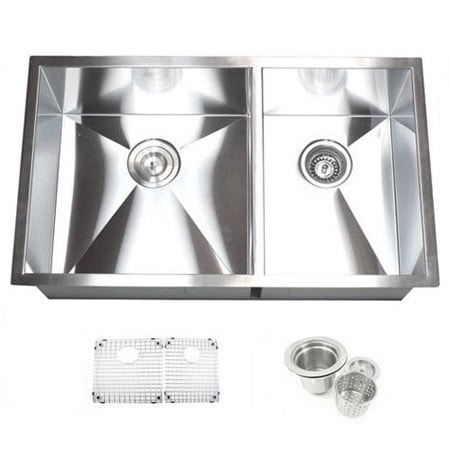 Kitchen Sink Basket Strainer 32 inch double bowl 6040 undermount zero radius kitchen sink basket 32 inch double bowl 6040 undermount zero radius kitchen sink basket strainer grid accessories free shipping today overstock 16248366 workwithnaturefo