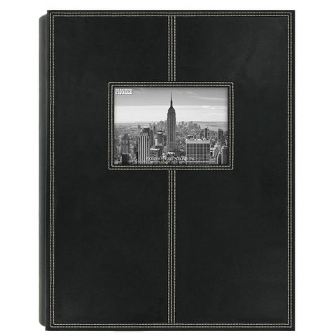 Pioneer Photo Albums 300-pocket Black Sewn Leatherette Frame Cover Album (Set of 2)