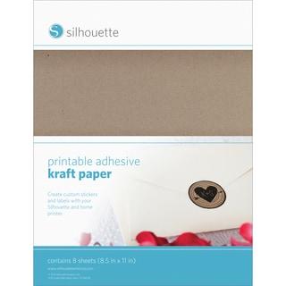 Silhouette Printable Adhesive Kraft Paper