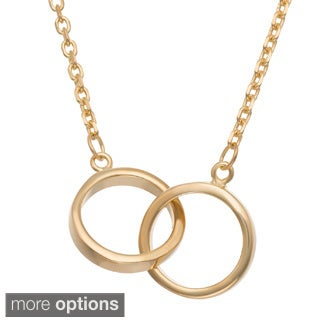 Gioelli Gold/ Rose Plated Infinity Rings Necklace