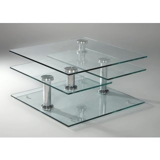 Shop Somette Square Swivel Motion Cocktail Table Free