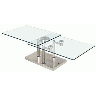Somette Rectangular Motion Glass Cocktail Table