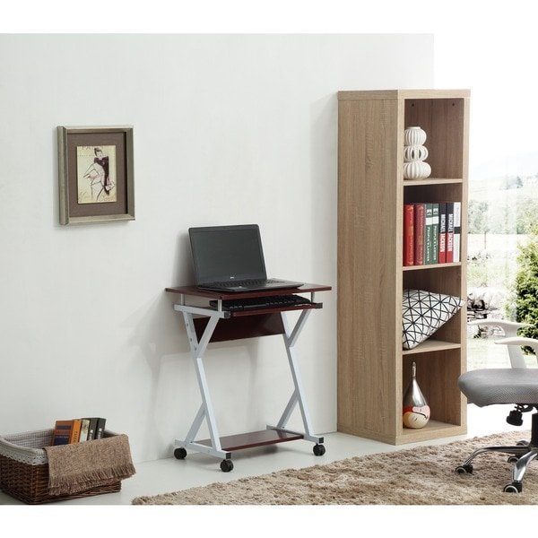 Rolling Metal Frame Wood Top Laptop Desk - Free Shipping Today