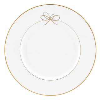 Gold Bow Dinner Plate