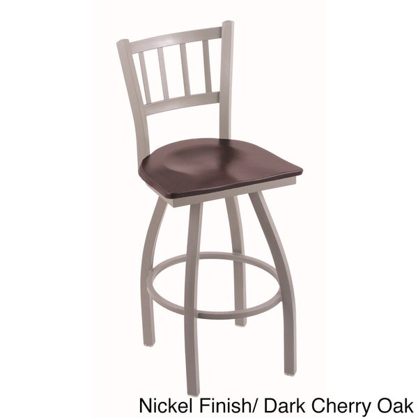 Steel Frame Oak Wood Counter Stool 16248583 Overstock