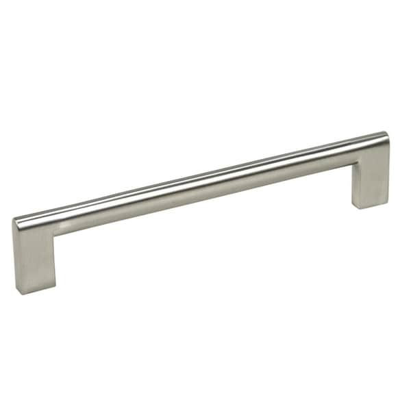 """Contemporary 6-15/16"""" Key Shape Design Stainless Steel Finish Cabinet Bar Pull Handle (Case of 4)"""