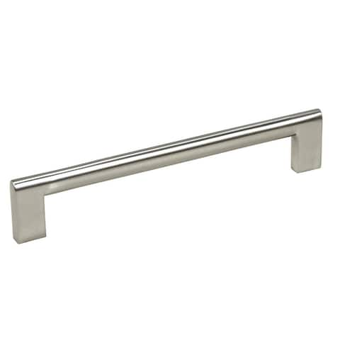 "Contemporary 6-15/16"" Key Shape Design Stainless Steel Finish Cabinet Bar Pull Handle (Case of 5)"