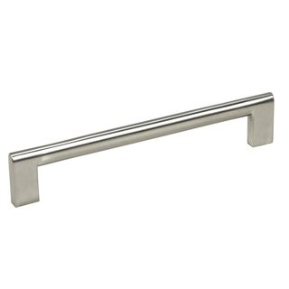"Contemporary 6-15/16"" Key Shape Design Stainless Steel Finish Cabinet Bar Pull Handle (Case of 25)"