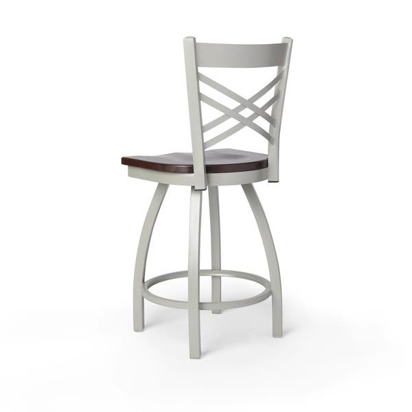 Amazing Shop Contemporary Steel Frame With Maple Seat Counter Height Bralicious Painted Fabric Chair Ideas Braliciousco