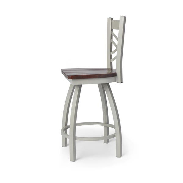 Fine Shop Contemporary Steel Frame With Maple Seat Counter Height Bralicious Painted Fabric Chair Ideas Braliciousco