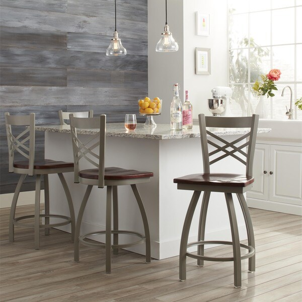 Shop Steel Frame Oak 25 Inch Counter Stool Free