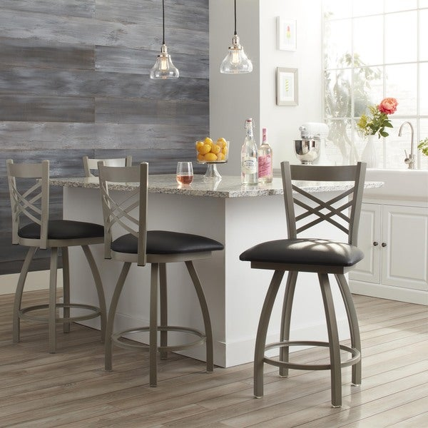 Steel Frame Black Upholstery 25-inch Counter Stool. Opens flyout.