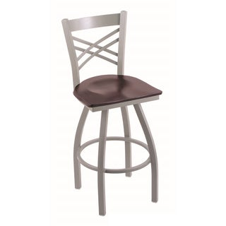 Steel/ Maple Contemporary Swivel Bar Stool
