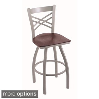 Steel Frame/ Oak Bar Stool