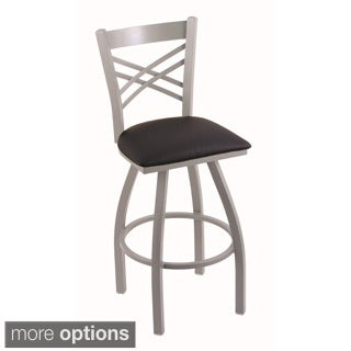 Steel Frame 44-inch Black Seat Bar Stool