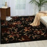 Nourison Chambord Black Rug (5'6 x 7'5)